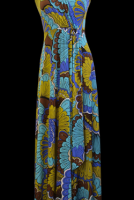 Charlie Brown Retro Print Maxi Dress