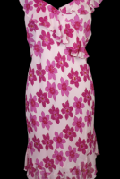 Charlie Brown Pink Floral Silk Dress