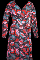 Leona Edmiston Silk Jersey Wrap Dress